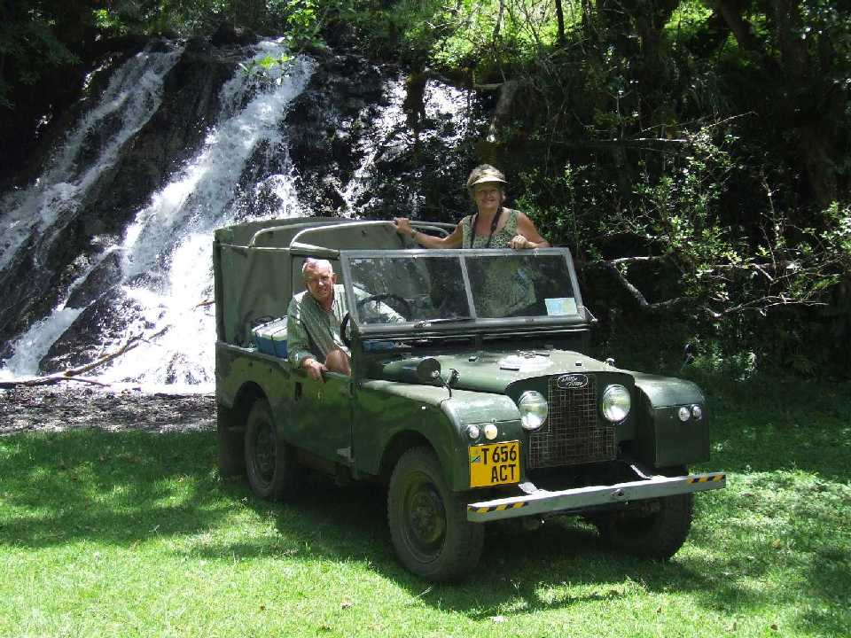 Tor Allan at Usa River in 2007 with his vintage Land-Rover