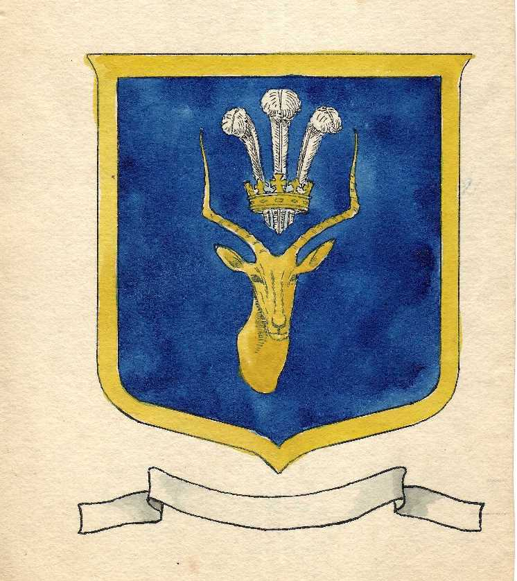 Cyril Redhead's original sketch painting of the School's badge