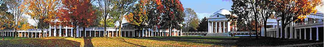 University of Virginia, Academical Village: Colonnades and Rotunda